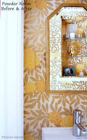 Wallpaper Powder Room Dm Project Powder Room Before And After Design Manifestdesign