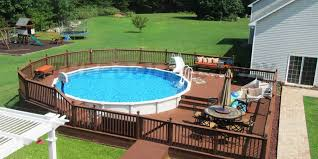 Backyard Above Ground Pool Ideas Above Ground Pools With Deck Pool Ideas The Factory Golfocd