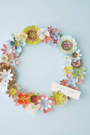 spring diy paper flower wreath u2014 hello lucky