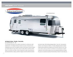 airstream travel trailers floor plans 2011 airstream travel trailers brochure rv literature