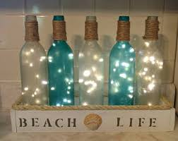 Home Decorations Wine Bottle Decor Etsy