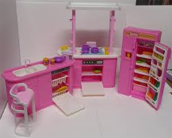 barbie kitchen playset furniture 1990 arcotoys mattel 8754 with