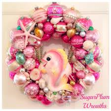 specializing in chic vintage ornament wreaths by sugarplumwreaths