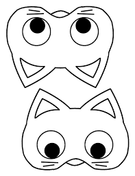 free childrens halloween masks print leighton sutton