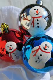 ornaments thumbprint snowmen the seasoned