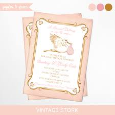stork baby shower vintage stork baby shower invitation printable giggles and