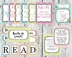 customize classroom rules behavior chart and reading corner