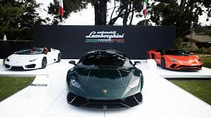 lamborghini clothing lamborghini showcases a bespoke display at monterey car week 2017
