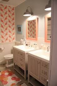 Two Vanity Bathroom Designs by Two Single Vanities Were Used To Give The Owners A Double Vanity