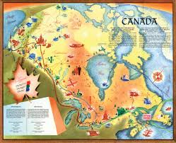 Fort Mcmurray Alberta Canada Map by This Beautiful Map Shows What Canada U0027s Future Looked Like In 1955