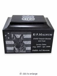 cremation urns for pets 9 service dog black granite cremation urn with engraved photo