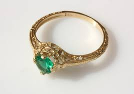 gold emerald engagement rings vintage emerald engagement ring 14k yellow gold emerald