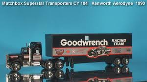 kenworth aerodyne matchbox truck kenworth aerodyne 1990 youtube