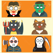 cute halloween clipart free cute halloween monsters flat cartoon design royalty free cliparts