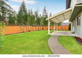 Nice Backyard Backyard Fence Stock Images Royalty Free Images U0026 Vectors