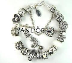 silver bracelet with cross charm images 85 best pandora bracelet with non branded charms green gold jpg