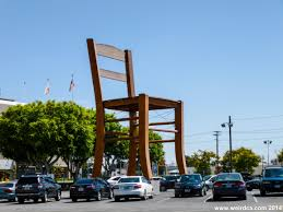 Furniture Store Downtown Los Angeles Big Chair Weird California