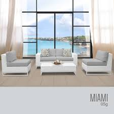 Outdoor Wicker Patio Furniture by Tk Classics Miami 5 Piece Outdoor Wicker Patio Furniture Set 05g