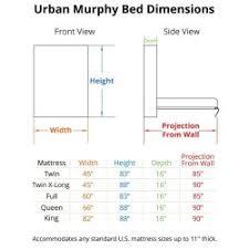 Queen Size Murphy Bed Kit Fancy Queen Size Murphy Bed Measurements Queen Size Bed Dimensions
