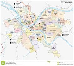 Pittsburgh Pa Map Pittsburgh Neighborhood Map My Blog
