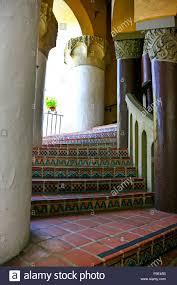 the spanish moorish design spiral staircase inside the santa