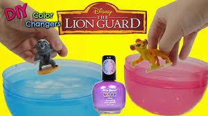 d i y the lion guard color change nail polish kion and bunga