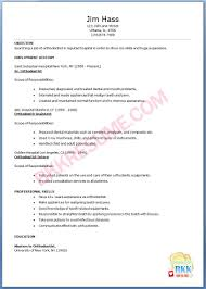 Different Types Of Resume Formats Orthodontic Resume Resume For Your Job Application