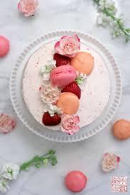 happy birthday to me strawberry pink velvet cake dessert first