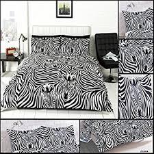 Zebra Print Duvet Cover Viceroybedding Animal Print Zebra Print Single Duvet Cover Set