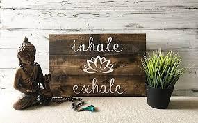 imagenes estudios yoga yoga quotes wall art inhale exhale yoga studio decor yoga