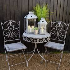Grey Bistro Chairs Furniture Grey Bistro Set With Brown Wall Design And Small Glass