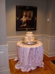 wedding cake display cake display table
