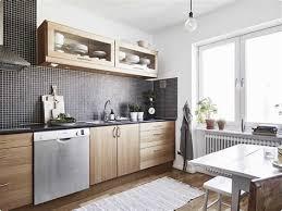 cuisine blanche et mur gris deco cuisine bois clair 8 cuisine blanche et bois clair