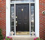 How To Paint A Front Door Without Removing It How To Paint A Door Without Removing It From The Hinges Diy