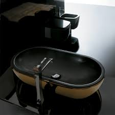 ceramic gold black ultra modern gold black vessel sink