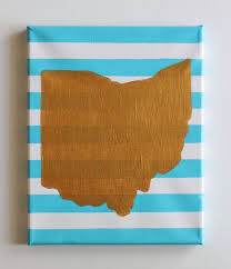 ohio ohio state ohioan ohio art home decor handmade