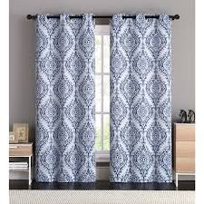Best Curtains To Block Light Vcny Flocked 84 Inch Back Tab Curtain Panel Blackout