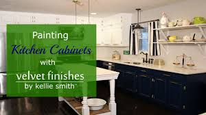 What To Paint Kitchen Cabinets With How To Paint Kitchen Cabinets With Velvet Finishes Youtube
