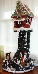 nightmare before christmas gingerbread house made from a left
