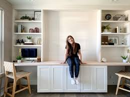 ikea kitchen wall cabinets height build office builtins with ikea cabinets honey built home