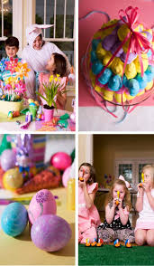 Easter Egg Hunt Party Decorations by Martie Knows Parties Blog