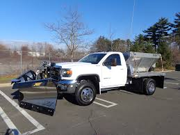 Dodge 3500 Dump Truck With Plow - 16 u0027 gmc 3500 flatbed with galvanized frame fisher xv2 and hiway