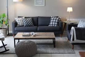 canap d co salon avec canap gris fonc avec deco in canape d angle en cuir