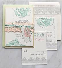wedding invitations minted lace wedding invitations mint lilac wedding invitations