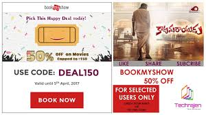 bookmyshow offer bookmyshow offer use promo code deal150 valid till 5th april