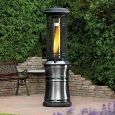 patio heater wheels lifestyle santorini flame 10kw gas patio heater garden street