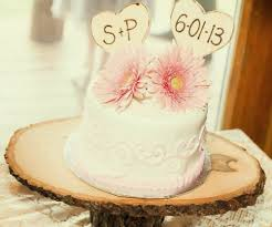 wedding cake toppers initials cottage chic shabby chic wood heart cake toppers personalized with