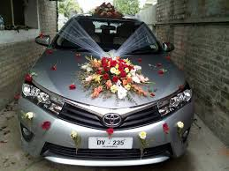 wedding ideas wedding car decoration with artificial flowers