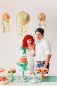 little mermaid wedding ariel prince eric photo shoot disney
