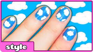 nail art designs cloud nail art easy nail art designs at home